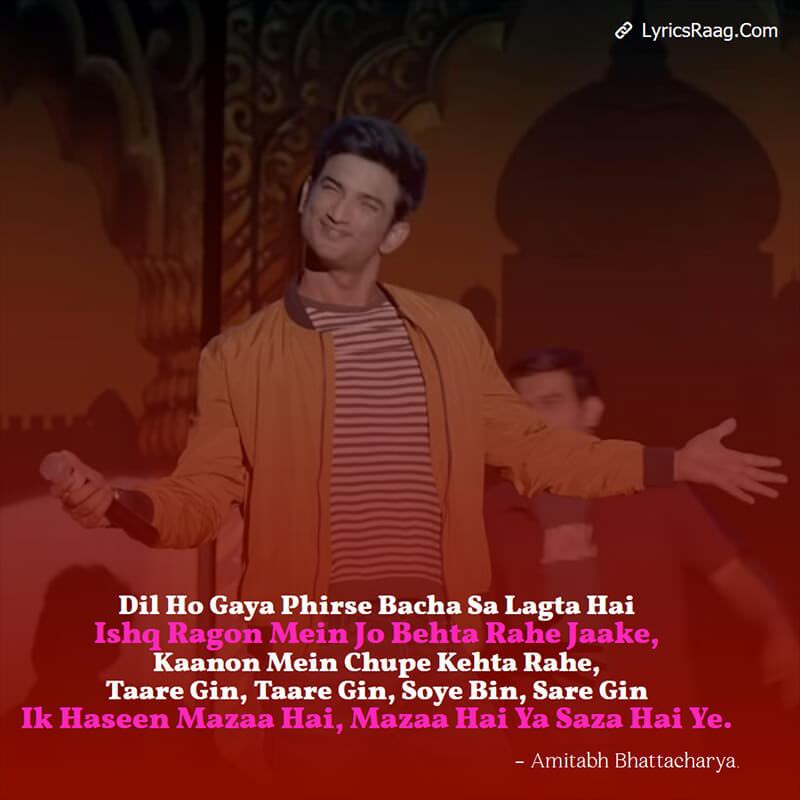 Taare Ginn Lyrics Hindi Dil Bechara Movie Sushant Singh Gin