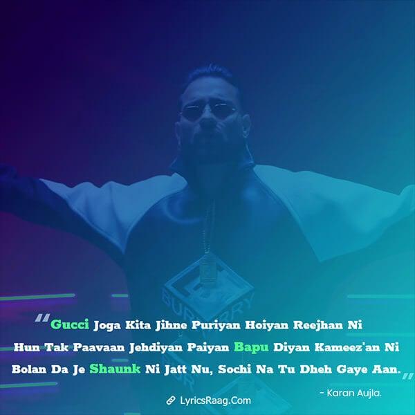 haan haige aan song lyrics karan aujla new Punjabi