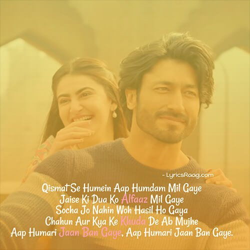 aap hamari jaan ban gaye lyrics meaning English khuda hafiz
