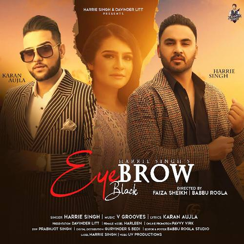 Eyebrow Black Harrie Singh lyrics Karan Aujla