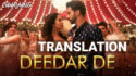 Chhalaang Deedar De lyrics English