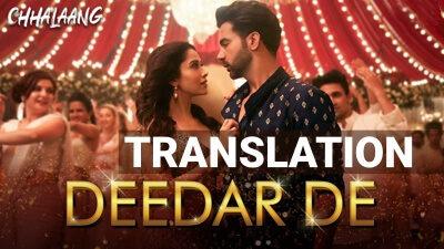 Chhalaang Deedar De lyrics English