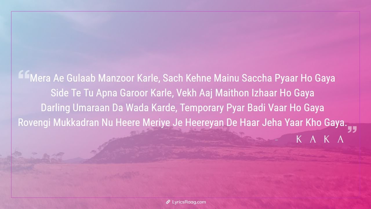 Kaka Temporary Pyar Song Lyrics English Translation Rovegi Mukadra Create and listen to your playlist, like and share your favorite music on the wynk music app. kaka temporary pyar song lyrics english translation rovegi mukadra